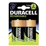 Duracell Rechargeable D Size 2 Pack